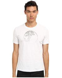 Versace Logo Studs Application Cotton Tee - Lyst