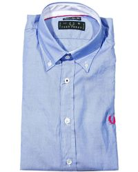 Fred Perry Shirt Botton Down Superslim Withtasti with Piping - Lyst