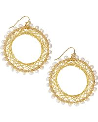 Nakamol Pearly Beaded Spiral-Wire Earrings - Lyst