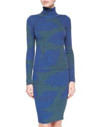 Risto - Mouline-knit Leaf Turtleneck Sweater - Lyst