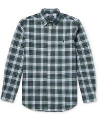 Polo Ralph Lauren Button-Down Collar Checked Cotton Shirt - Lyst
