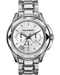 Karl Lagerfeld Karl 7 Stainless Steel Chronograph Watch silver - Lyst