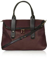 Topshop Womens Slouchy Holdall Bag Burgundy - Lyst
