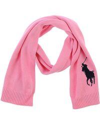 Ralph Lauren Pink Oblong Scarf - Lyst