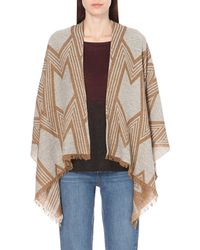 Maje | Eclair Knitted Poncho | Lyst