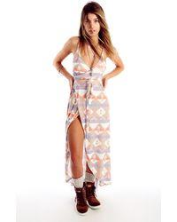 Wildfox Cozy Blanket Atlantis Wrap Dress Cozy Blanket Atlantis Wrap Dress - Lyst