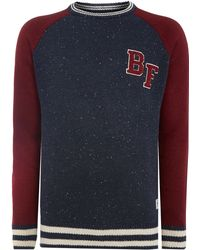 Bellfield Colour Block Sleeve Jumper - Lyst
