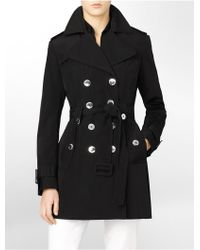 Calvin Klein White Label Belted Trench Coat - Lyst