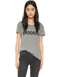 Textile Elizabeth and James | Brooklyn Bowery Tee - Heather Grey/black | Lyst