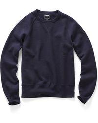 Todd Snyder Crew Sweatshirt In Navy - Lyst