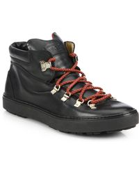 Bally Leather Lace-Up Sneakers - Lyst