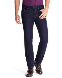 Hugo Boss Maine Marvel  Regular Fit Straight Leg 8 Oz Cotton Blend Jeans - Lyst