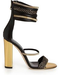 Balmain Leather and Chains Evening Sandal - Lyst