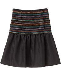 Cynthia Rowley Medallion Ruffle Skirt - Lyst