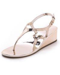 BCBGMAXAZRIA - Silva Wedge Jelly Sandals Silver - Lyst