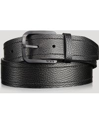 Tumi - Double Stitch Horseshoe Buckle Belt - Lyst