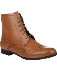 Barneys New York Wingtip Oxford Boots - Lyst