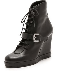 Surface To Air - Buckle Ankle Booties  Black - Lyst
