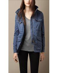 Burberry Stretch-Cotton Field Jacket - Lyst
