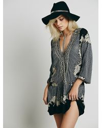 Free People Border Print Dropwaist Tunic - Lyst