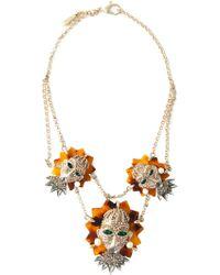 Roberto Cavalli 'Turtle Mask' Necklace - Lyst