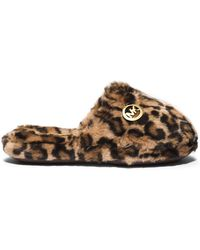 Michael Kors Jet Set Faux Fur Slipper - Lyst