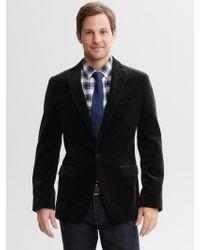 Banana Republic Tailored Velvet One Button Blazer  - Lyst
