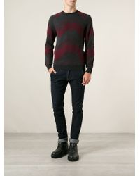 Giorgio Armani Jacquard Sweater - Lyst