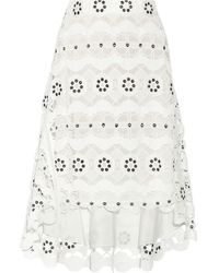 Chloé Asymmetric Guipure Lace Skirt - Lyst