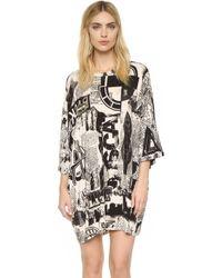 KTZ - Newsprint T-shirt Dress - Lyst