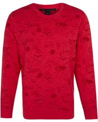 Marc By Marc Jacobs Red Doodle Sweatshirt - Lyst