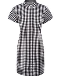 Oasis Gingham Shirt Dress black - Lyst