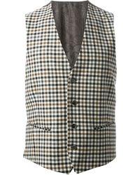 Etro Checked Waistcoat - Lyst