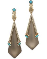 Alexis Bittar Dangling Beetle Earrings - Warm Grey - Lyst