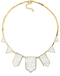 House Of Harlow 1960 Plated Five Station Necklace - Lyst