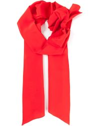 Marni Bow Detail Crepe Scarf - Lyst
