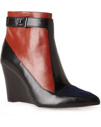French Connection Berne Wedge Booties - Lyst