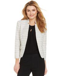 Nine West Tweed Stand-Collar Jacket - Lyst