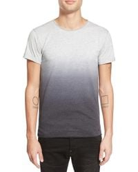 Alexander Simai - Elongated Two Color Dip Dye T-shirt - Lyst