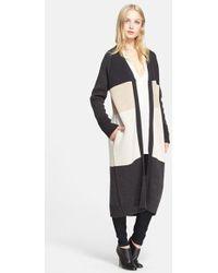 Haute Hippie Women'S Colorblock Long Merino Wool Cardigan - Lyst
