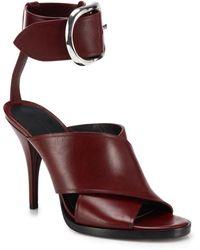 Alexander Wang Evelin Leather Crisscross Sandals purple - Lyst