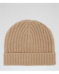 Reiss - Toby Ribbed Beanie Hat - Lyst