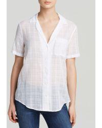 Equipment Shirt - Keira Shadow Plaid Short Sleeve Cotton - Lyst