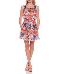 Carven Floral Tank Dress multicolor - Lyst