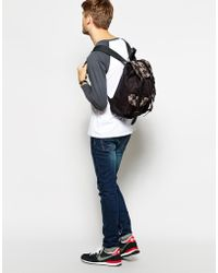 Asos Backpack with Houndstooth Pockets - Lyst