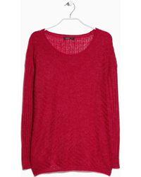 Mango Textured Mohairblend Sweater - Lyst