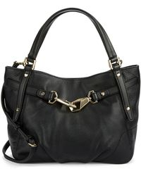Calvin Klein Pebbled Leather Satchel black - Lyst