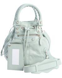 Balenciaga Vert Jade Lambskin Mini Pompon Convertible Handbag - Lyst