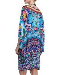 Camilla Embellished Silk Tunic multicolor - Lyst