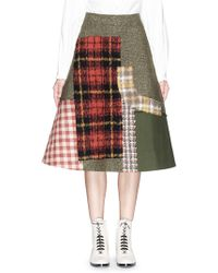 Angel Chen - Mixed Media Patchwork A-line Skirt - Lyst